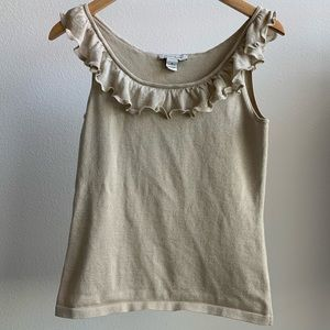 White House Black Market | Ruffle Neck Tank